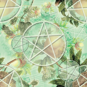 Mint Pomegranate Pentacles