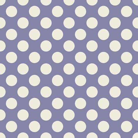 Cream Polka Dots on Dark Blue/Purple fabric by jumeaux on Spoonflower - custom fabric