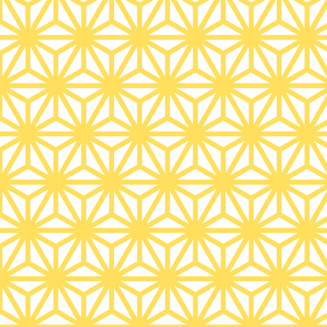 asanoha in citrine fabric by chantae on Spoonflower - custom fabric