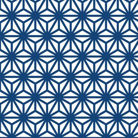 asanoha in kyanite fabric by chantae on Spoonflower - custom fabric
