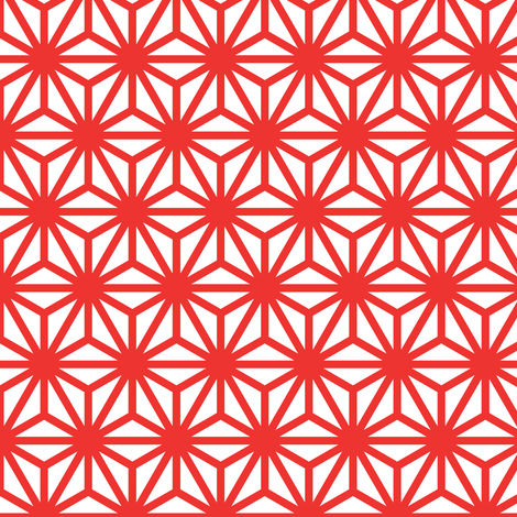 asanoha in carnelian fabric by chantae on Spoonflower - custom fabric
