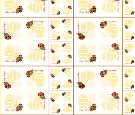 Easter Cocktail napkins / serviettes  fabric by house_of_heasman on Spoonflower - custom fabric