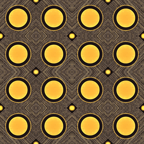 Ditto  - mid century modern or contemporary look, rich texturing and pattern, charcoal and amber-ed-ed fabric by materialsgirl on Spoonflower - custom fabric