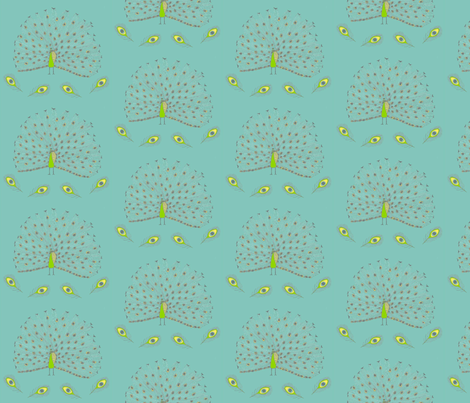 peacock1 fabric by rutherbrad on Spoonflower - custom fabric
