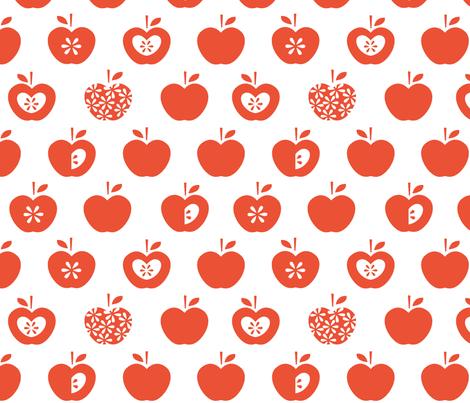 Apple fabric by pattern_bakery on Spoonflower - custom fabric