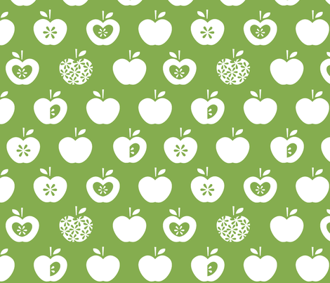 Apple-green fabric by pattern_bakery on Spoonflower - custom fabric