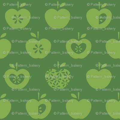 Apple-dark green