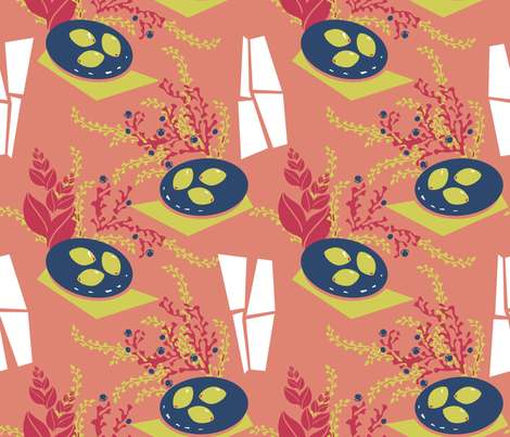 Lemons in the Window Still Life after Matisse fabric by joanmclemore on Spoonflower - custom fabric