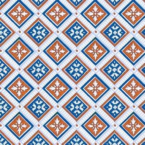 Classic Squares in blue