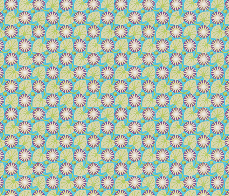 Art Nouveau Lily Pads fabric by unseen_gallery_fabrics on Spoonflower - custom fabric