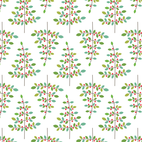 Winter Tree fabric by kayajoy on Spoonflower - custom fabric