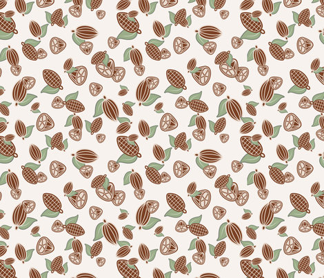Cocoa Beans fabric by studiofibonacci on Spoonflower - custom fabric