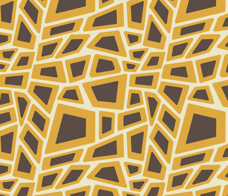 Mid-Century Modern Leopard (gold) fabric by studiofibonacci on Spoonflower - custom fabric