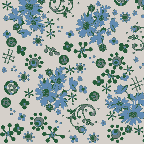 Ditsy Flora / Cornflower fabric by paragonstudios on Spoonflower - custom fabric