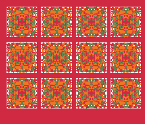 THANKSGIVING_holiday_napkins_copy fabric by scifiwritir on Spoonflower - custom fabric