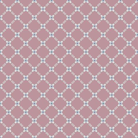 Mauve Flower Lattice fabric by jumeaux on Spoonflower - custom fabric