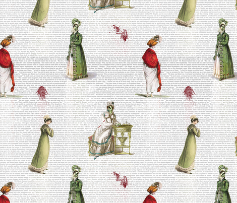 Pride & Prejudice - Zombified! fabric by studiofibonacci on Spoonflower - custom fabric