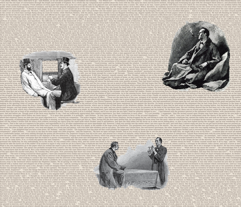 Sherlock Holmes - The Memoirs of Sherlock Holmes fabric by studiofibonacci on Spoonflower - custom fabric