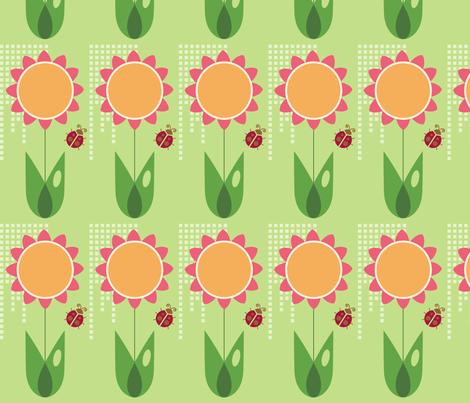 Daisy fabric by studiofibonacci on Spoonflower - custom fabric