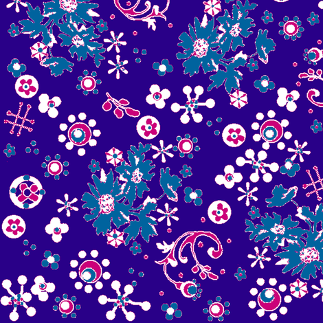 Ditsy Flora / purple fabric by paragonstudios on Spoonflower - custom fabric