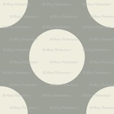 Cream Polka Dots on Gray