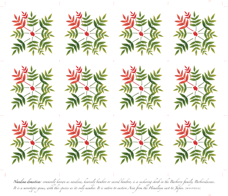 nandina_napkins fabric by melhales on Spoonflower - custom fabric