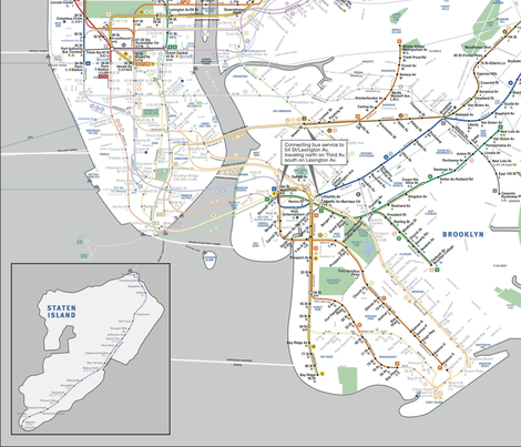 Hurricane Sandy Relief Project - Subway Recovery Map (original) fabric by relative_of_otis on Spoonflower - custom fabric