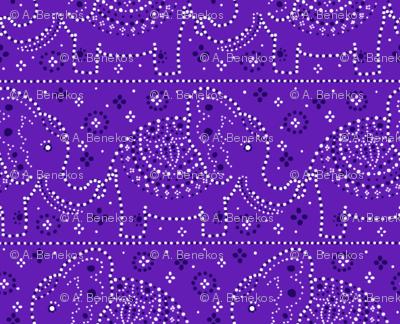 Parading Elephants - Violet