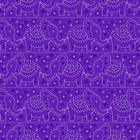 Parading Elephants - Violet fabric by siya on Spoonflower - custom fabric
