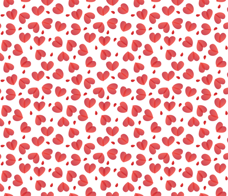 heart_pairs fabric by melhales on Spoonflower - custom fabric