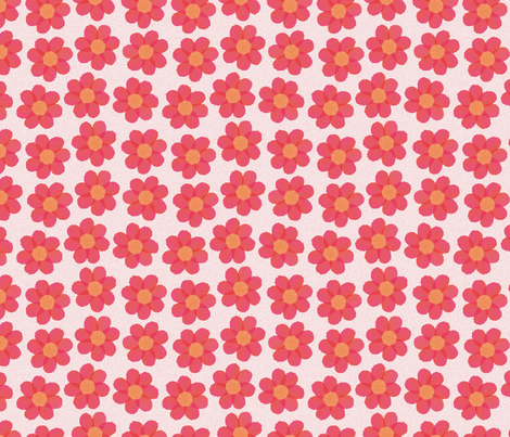 Flowering_hearts fabric by melhales on Spoonflower - custom fabric