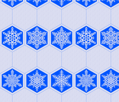 Snowflake Cocktail Napkin fabric by leopardessmoon on Spoonflower - custom fabric