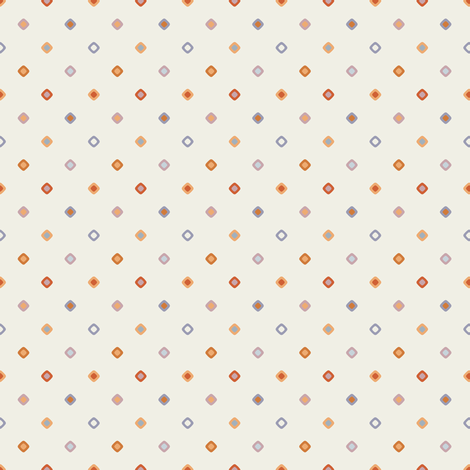 Cream Diagonal Diamond Dots fabric by jumeaux on Spoonflower - custom fabric