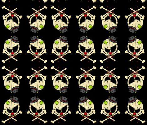clown skull fabric by miss_jo_di_o on Spoonflower - custom fabric