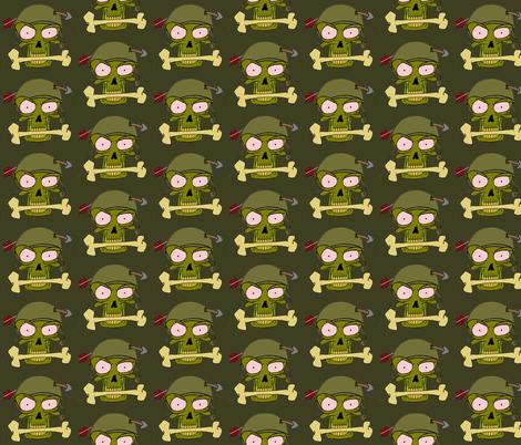 skull n arrow fabric by miss_jo_di_o on Spoonflower - custom fabric
