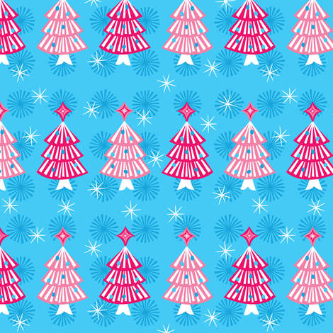Pink Pop Trees fabric by robyriker on Spoonflower - custom fabric