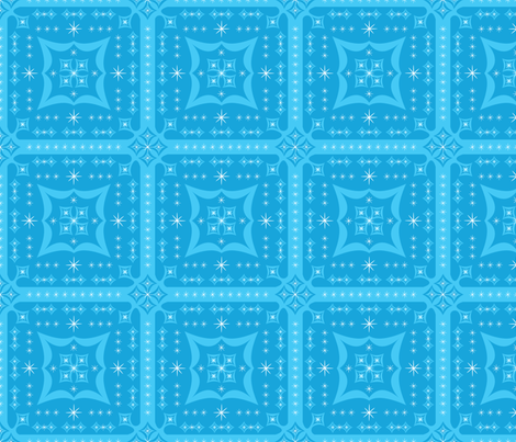 Blue Pop Squares fabric by robyriker on Spoonflower - custom fabric