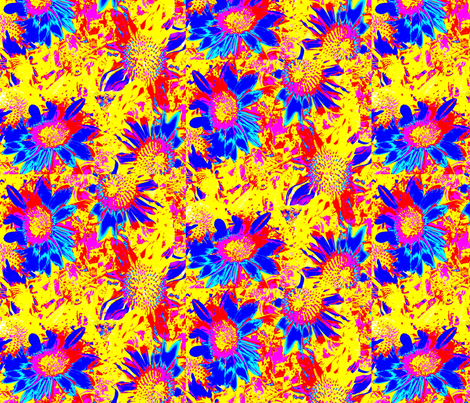 blue flowers 1 fabric by dk_designs on Spoonflower - custom fabric