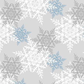 Star Flakes - Grey