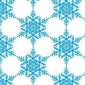 Star Flakes - light blue