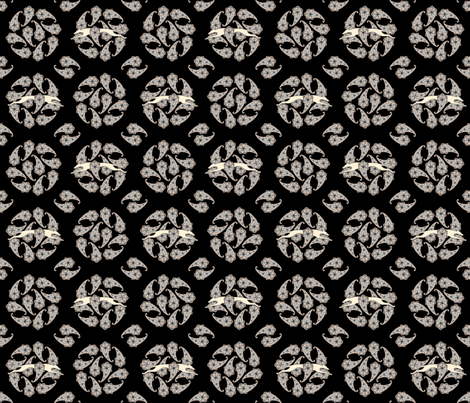 Paisley Circle Greyhound  buff grey © 2012 by Jane Walker fabric by artbyjanewalker on Spoonflower - custom fabric
