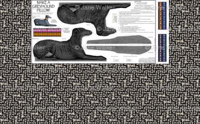 Greyhound Pillow Kit - Black Brindle Female