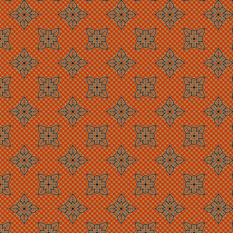 tropical_lace_burnt_orange fabric by glimmericks on Spoonflower - custom fabric
