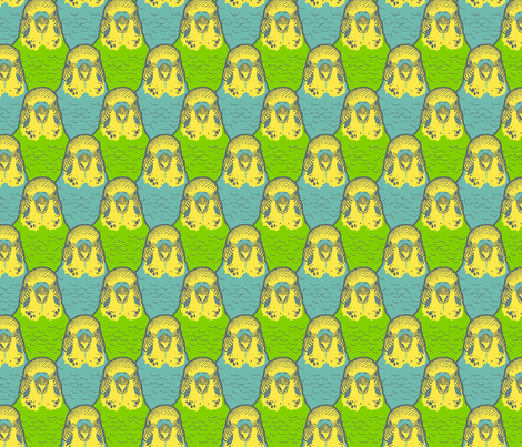 A Buncha Budgies fabric by kjthoon on Spoonflower - custom fabric