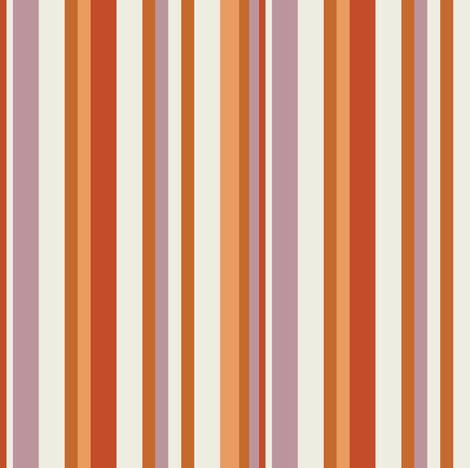Toasty November Warm Stripes fabric by jumeaux on Spoonflower - custom fabric