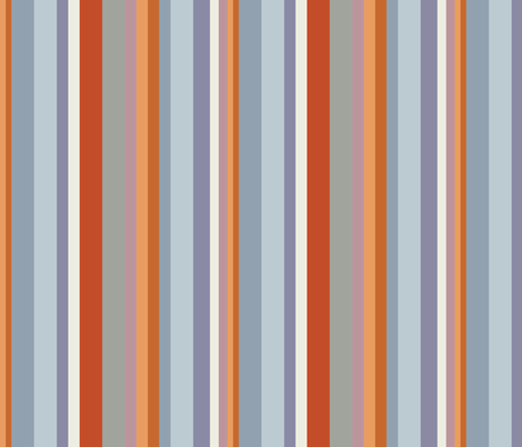 Toasty November Multi-Stripes fabric by jumeaux on Spoonflower - custom fabric