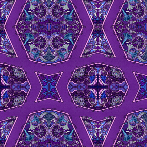 A Crooked Pathway fabric by edsel2084 on Spoonflower - custom fabric