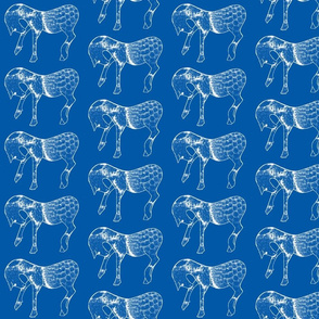 Horses in blues