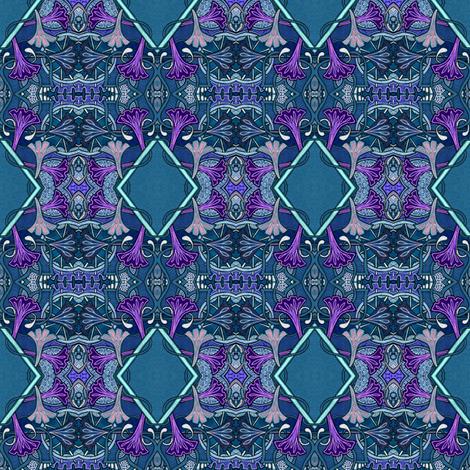 Moonflower Midnight fabric by edsel2084 on Spoonflower - custom fabric