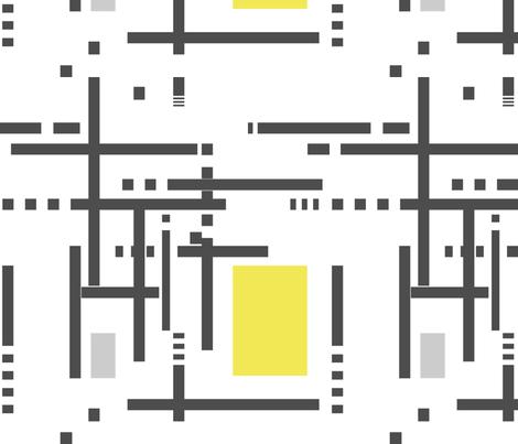 Mondri-Mod Chaos fabric by wren_leyland on Spoonflower - custom fabric